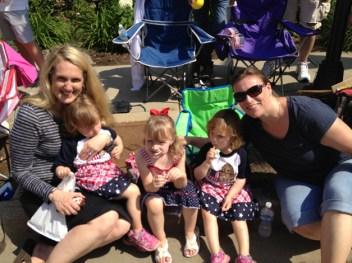 Two generations of Barrington ladies enjoying the parade! - Jessica Kuiper