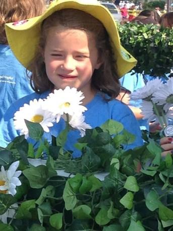My daughter on the Advocate Good Shepherd float - Kim Barrio