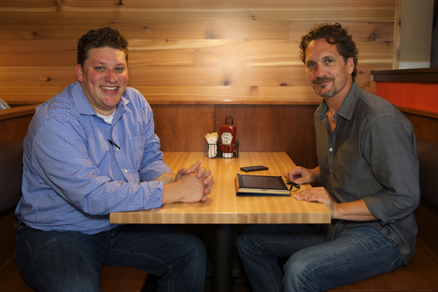 Meatheads Area Director Jason Loop (on left) with Founder/CEO Tom Jednorowicz (on right) - Photographed by Julie Linnekin