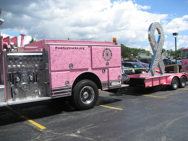 Pink Heals Firetruck Tour Stops at Advocate Good Shepherd Hospital in Barrington