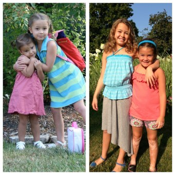 From the first days if preschool and kindergarten to the first day in second and fifth grades, these sisters are eager for the year ahead! - Submitted by mom, Ann