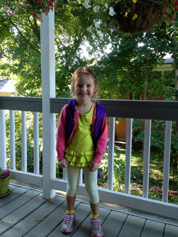 Lidia was excited for her first full day of her new school! - Submitted by Barbara