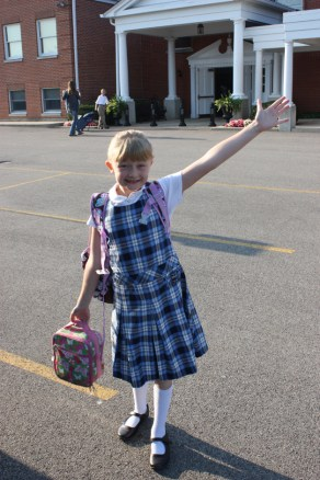 First day back to school at Classical Consortium Academy at Village Church of Barrington - Submitted by mom, Lindsay