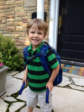 Logan excited for his first day of 3/4 preschool at Atonement Christian Day School - Submitted by Mom, Paige