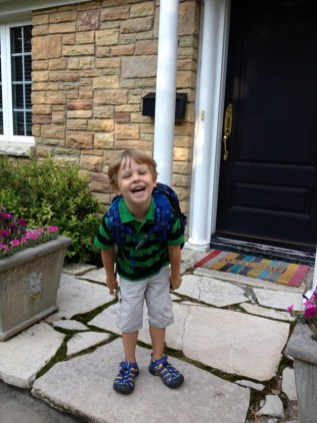 Logan excited for his first day of 3-4 preschool at Atonement Christian Day School - Submitted by Mom, Lisa