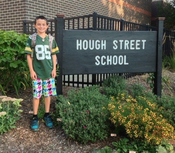 My son Keegan off to his last year at Hough - Submitted by Mom, Paige