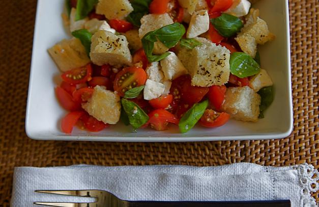 Kelly Donlea's Caprese Bread Salad - Photographed by Julie Linnekin