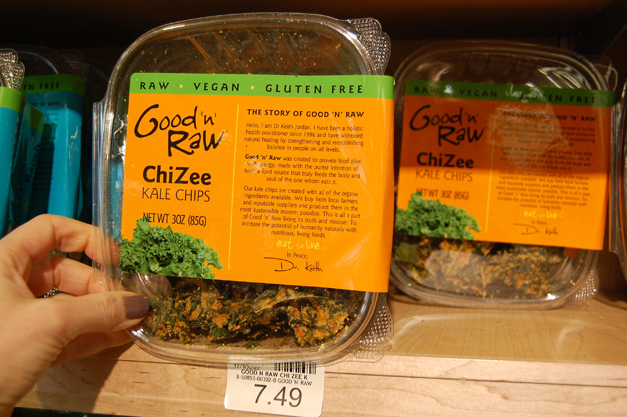 Mama Jess Favorite: Good 'n' Raw ChiZee Kale Chips at Heinen's Fine Foods