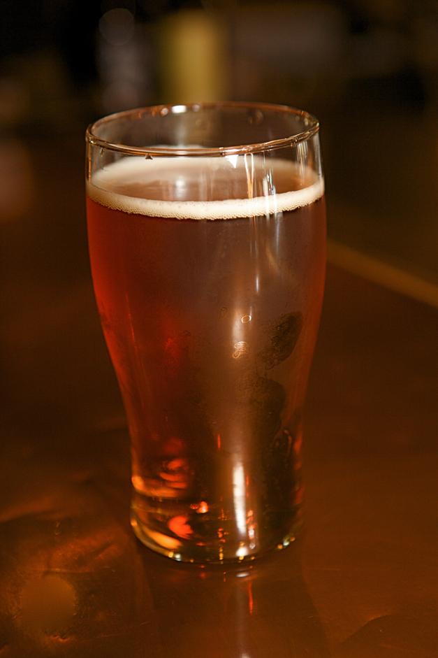 Onion Pub's Oktoberfest Beer - Photographed by Julie Linnekin