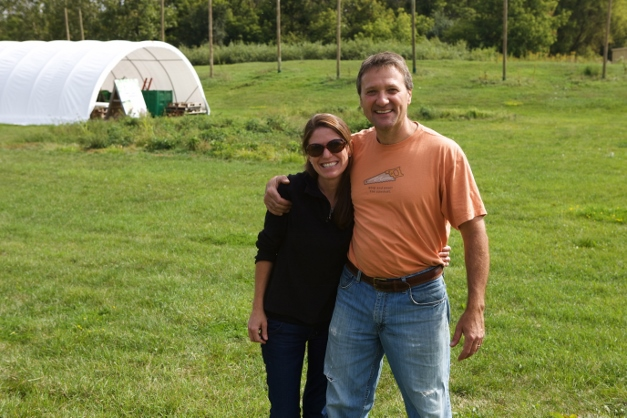 Jennifer and Mike Kainz at The Wild Onion Brewery's Hop Farm & Wormery - Photographed by Julie Linnekin
