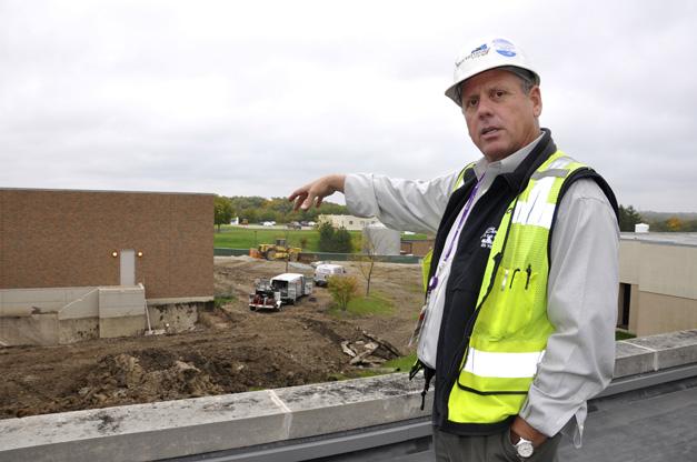 Senior Superintendent Tom Simon with Mortenson Construction