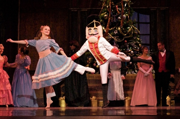 Victoria Van Hollen, of Lake Barrington, performs as Clara dancing with her Nutcracker Doll, played by Lauren Colella, of North Barrington - courtesy of Kelly Stachura Photography