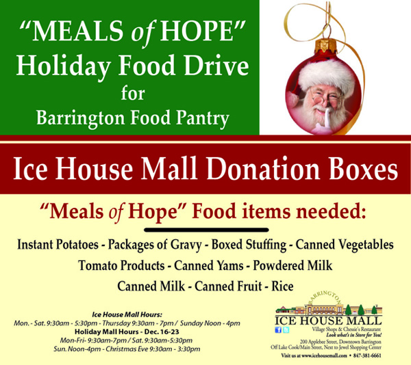Meals of Hope at the Ice House Mall in Barrington