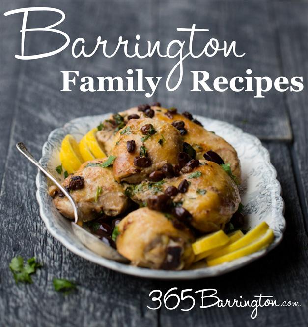 Barrington Family Recipes - Moroccan Chicken