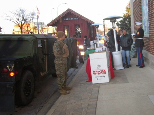 Toys for Tots Barrington Toy Collection - Photographed by Marty Smith III, US Marines 2nd District Commandant