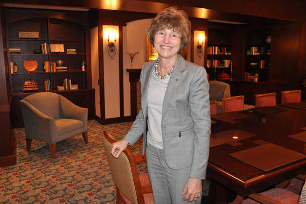 Suzanne Gibson of the Barrington Breakfast Rotary