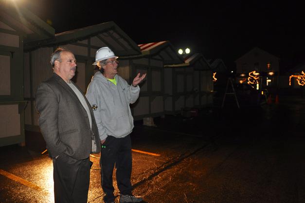 Garlands Executive Director David Loop and Bob Bollman from Pepper Construction