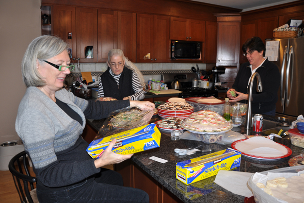 Chief Cookie Bakers Prepare for the Community Church of Barrington Cookie Walk