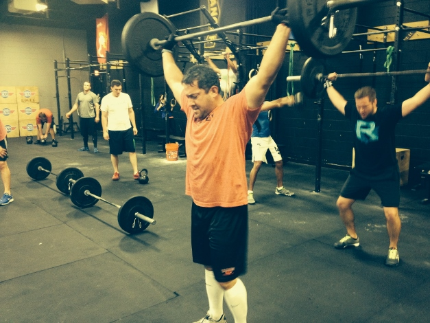 David Robbins gets after it at CrossFit - courtesy of Leigh Niven