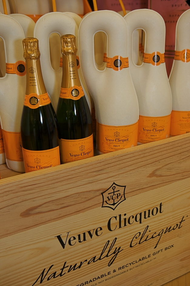 Veuve Cliquot in a special eco-friendly 2-hour chiller - Photographed by Julie Linnekin