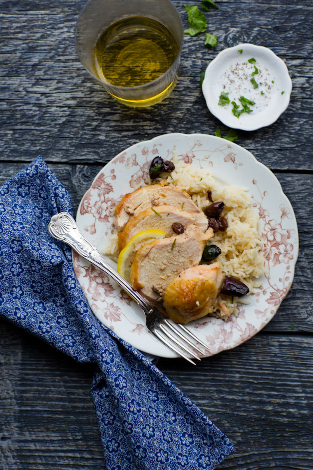 Michelle Van Loon's Moroccan Chicken with Lemon and Olives - Photographed by Sally Roeckell