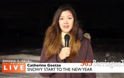 3. Snow Report from 365BarringtonTV's Catherine Goetze