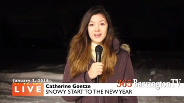 365BarringtonTV's Catherine Goetze Reports on Barrington's Snowy New Year