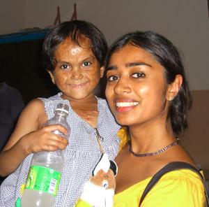 Nina Sethi with Meher