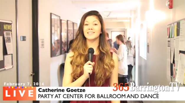Catherine Goetze Reports for 365BarringtonTV from the Center for Ballroom and Dance in Deer Park