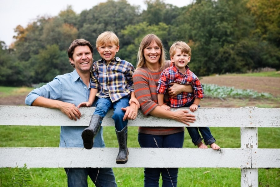 Dominic and Jessica Green with their boys - Photograph by Christina Noel