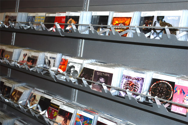 Come on over and browse the new CD shelving at the library. More titles are being added every week as our Tech Services department gets the CDs newly packaged and labeled.