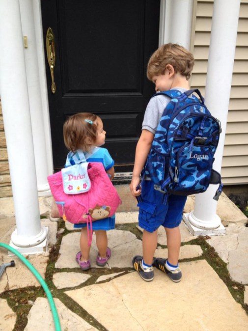 First Day of School for Parker and Logan Jones! - Submitted by Mom, Lisa Jones
