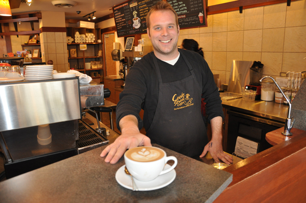 Conscious Cup and Cook Street Coffee Owner, Mike Shipley in Barrington