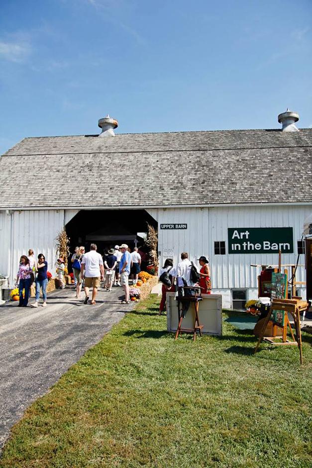 Art in the Barn on the Advocate Good Shepherd Hospital Grounds
