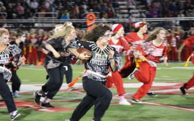 271. Seniors Defeat Juniors in BHS Girls' Homecoming Powder Puff Filly Football Game