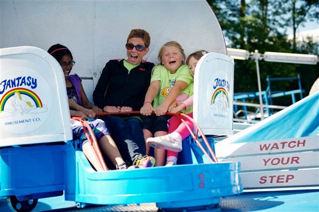 Making memories at the Grove Avenue Carnival - Photographed by Tom Root