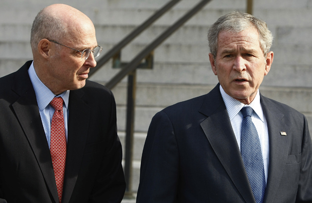 Henry Paulson Jr. with President George W. Bush