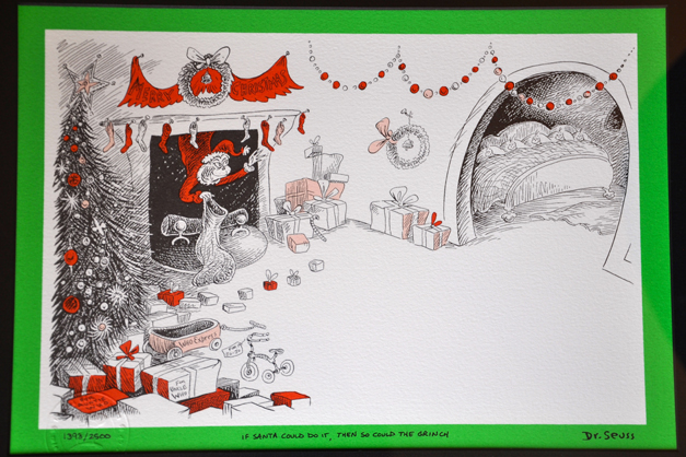 Limited Edition Theodor Seuss Geisel Lithograph from How The Grinch Stole Christmas (1967)