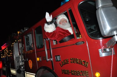 Santa's Arrival on a Firetruck at Deer Park Town Center