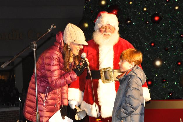 Jake Coyle Helps Light Deer Park Town Center's Christmas Tree