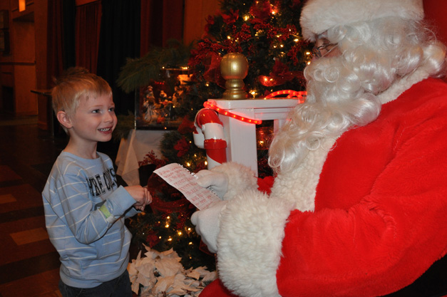 "Children Visit Santa's Workshop via Barrington Park District's ""Santa Express"" Metra Train Car"