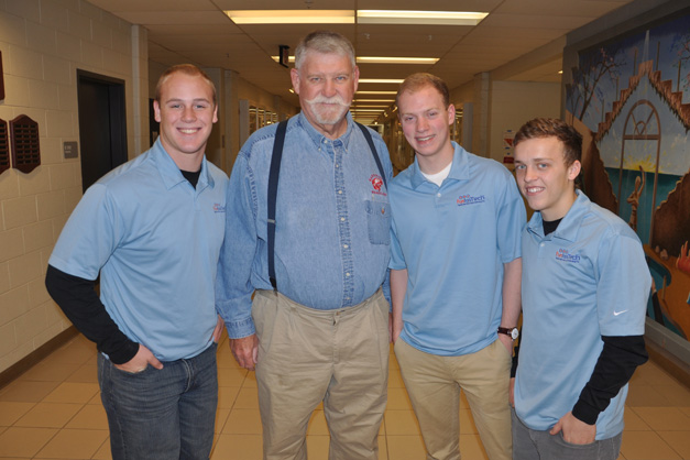 FuntasTech's Founders Jake Coon, Scott Arnett & Jake Orr with Retired Head of the BHS Social Studies Dept & client, Tim Dunn