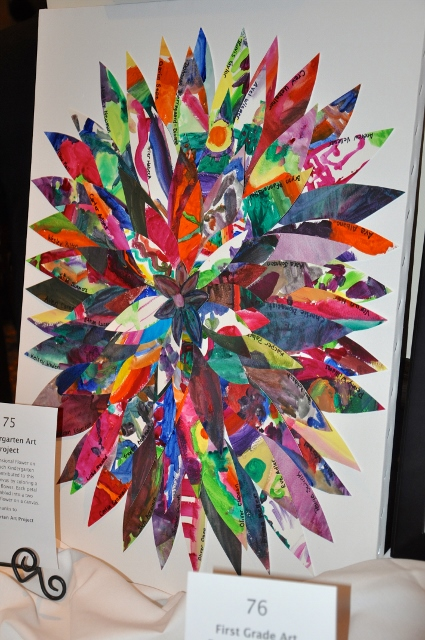 One of the student-created artworks auctioned at the event - Photographed by Liz Luby