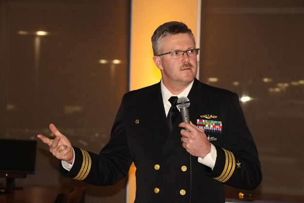 USS Illinois SSN 786 Commanding Officer CDR Jesse Porter - Photo by Gus Goetze