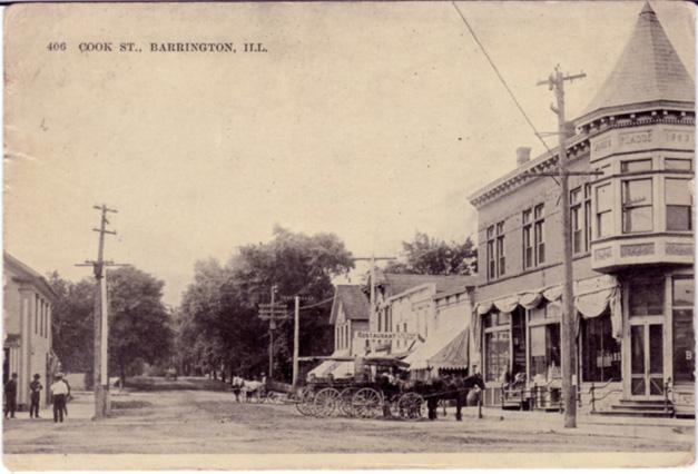 Post - Barrington History - 1912 Downtown Barrington