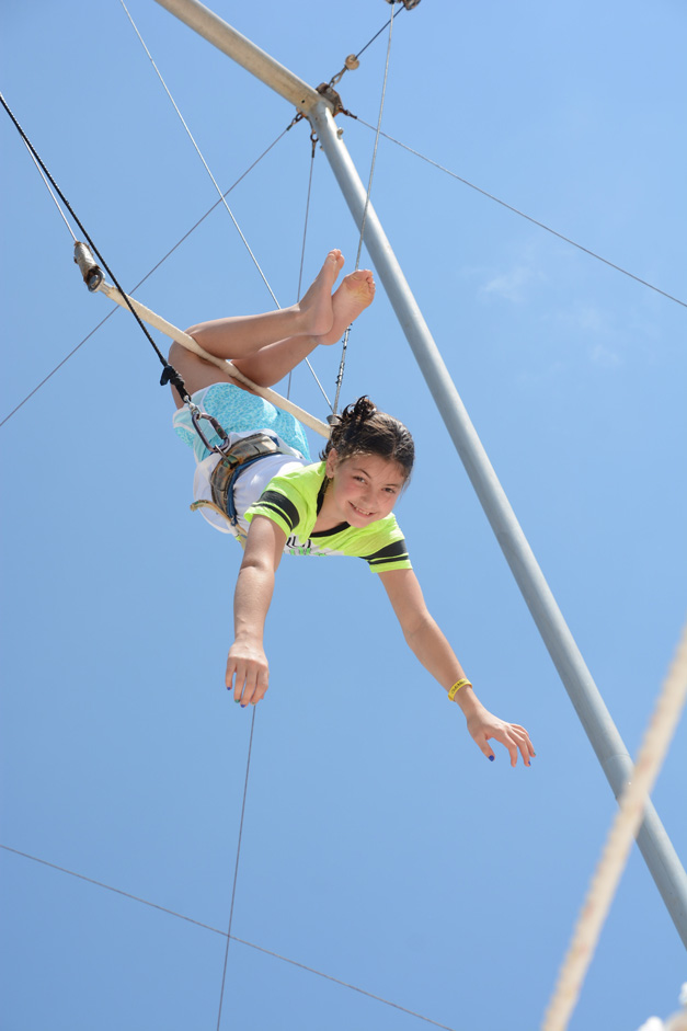 Vivian on the Trapeze - Club Med, Cancun - Photo Submitted by Mike Galvan