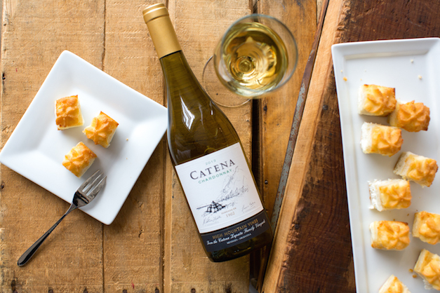 2013 Catena Mendoza Chardonnay 2013, perfectly paired - Photograph by Sally Roeckell