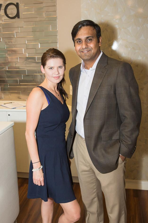 Alexsandra Bielawiec and Dr. Ahtesham Hyder - Photo by Sally Roeckell