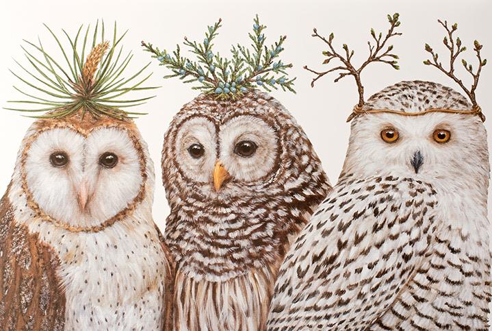 Vicki Sawyer Winter Owls Placemats