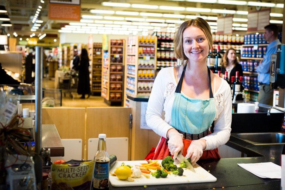 Blissful Kitchen's Jamie Wagener at Heinen's Welleness Fair - Photos by Kate Smith